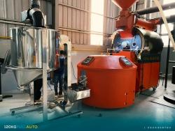 Máy rang cà phê công suất 120kg auto