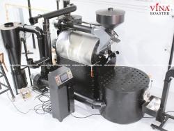 Máy rang cà phê 60kg hot air hồi khí
