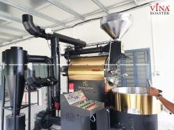 Máy rang cà phê 30kg hot air
