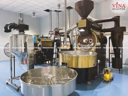 Máy rang cà phê 60kg hot air auto