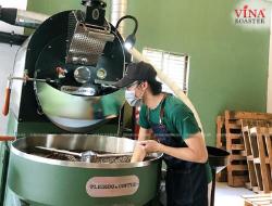 Lắp Đặt Máy Rang Cà Phê 25kg Double Wall Drum - Pleikou Coffee - Anh Lĩnh